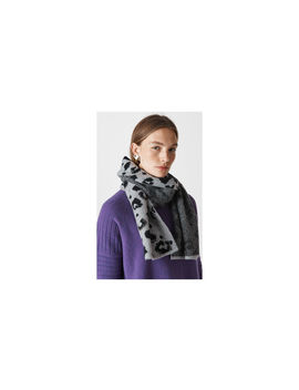 Leopard Intarsia Knit Scarf by Whistles