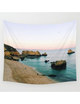 Oceanside Sunset Wall Tapestry by