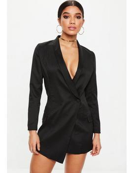Petite Black Blazer Dress by Missguided