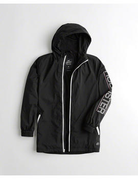 Mesh Lined Longline Windbreaker by Hollister