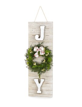 Cozy Christmas Collection Joy Holiday Decor Sign by Trimsetter
