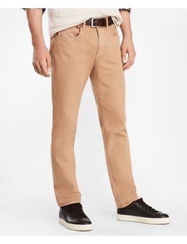Five Pocket Garment Dyed Jeans by Brooks Brothers