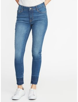 Mid Rise Built In Sculpt Released Hem Rockstar Jeans For Women by Old Navy