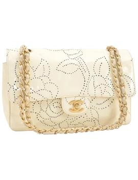 Floral Ivory Patent Leather Cross Body Bag by Chanel