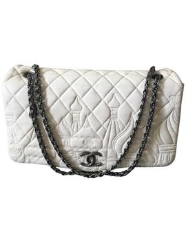 Classic Flap Lmtd Edition Jumbo Moscow Collection Rhw Off White Lambskin Leather Shoulder Bag by Chanel