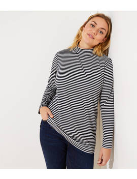 Loft Plus Button Back Mock Neck Top by Loft
