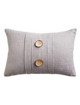 Coastal Pleated Gray Lumbar Pillow by Pier1 Imports