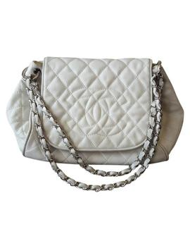 Accordion Flap Off White Caviar Shoulder Bag by Chanel