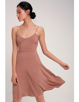 Twirl For You Mauve Pink Midi Skater Dress by Lulus