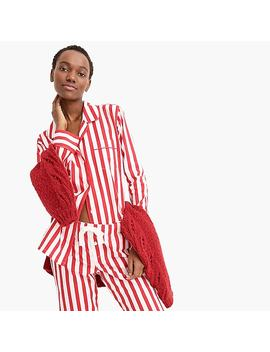 Vintage Pajama Top In Candy Cane Stripe by J.Crew