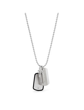 Dog Tag Stainless Steel Necklace by Fossil