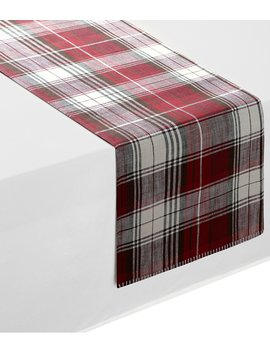Holiday Red Plaid Runner by Southern Living