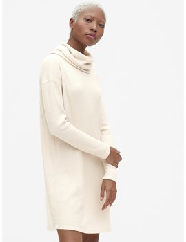 Softspun Ribbed Cowl Neck Sweater Dress by Gap