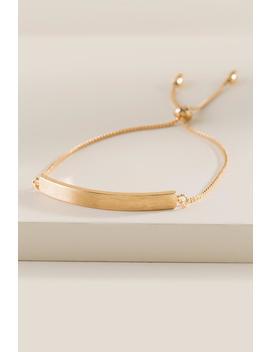 Maxi Bar Pull Tie Bracelet by Francesca's
