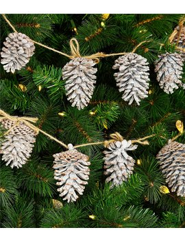 Grand Noel Collection 6 Ft. White Wash Pine Cone Garland by Southern Living