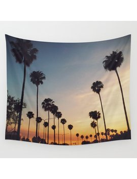 Palm Tree Summer Wall Tapestry by