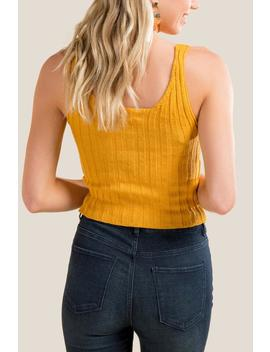 Cicely Button Front Sweater Tank by Francesca's