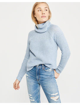 Curved Hem Turtleneck Sweater by Abercrombie & Fitch