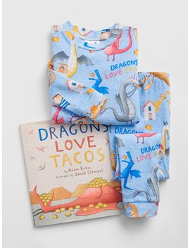 Books To Bed Dragons Love Tacos Pj Set by Gap