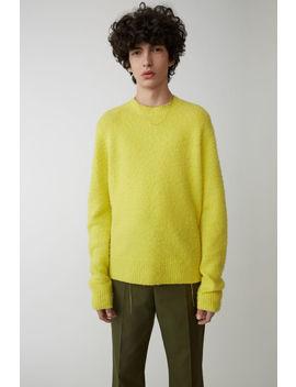 Crewneck Sweater Yellow by Acne Studios