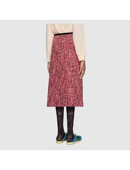 Sequin Tweed Skirt by Gucci