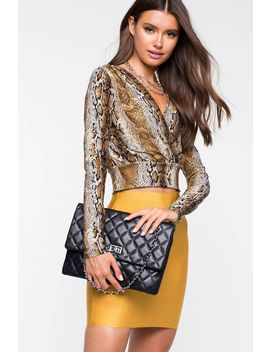 As If Quilted Crossbody Bag by A'gaci
