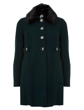 Petite Forest Dolly Coat by Dorothy Perkins