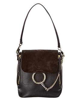Chloé Faye Small Leather & Suede Backpack by Chloe