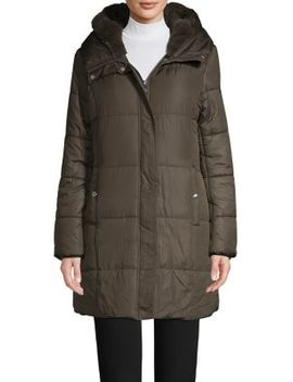 Quilted Hooded Jacket by Sam Edelman
