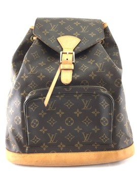 Montsouris #21334 Rare And Discontinued Large Monogram Coated Canvas Backpack by Louis Vuitton