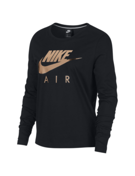 Nike Rose Gold Metallic Air Long Sleeve Top by Foot Locker