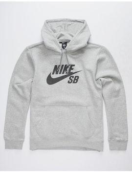 Nike Sb Icon Gray & Black Mens Hoodie by Nike Sb