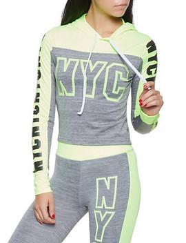 Nyc Graphic Activewear Sweatshirt Nyc Graphic Activewear Leggings by Rainbow