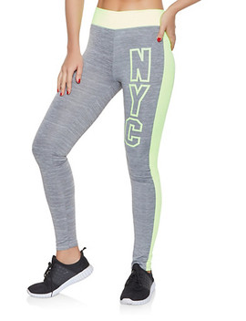 Nyc Graphic Activewear Leggings Nyc Graphic Activewear Sweatshirt by Rainbow