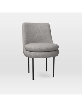 Modern Curved Upholstered Dining Chair by West Elm