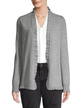 Ruffled Cashmere Cardigan by Ply Cashmere