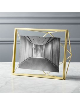 """Prisma 5""""X7"""" Gold Picture Frame by Crate&Barrel"""