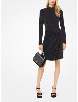 Metallic Stretch Viscose Twist Dress by Michael Michael Kors