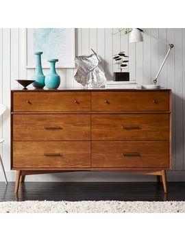 Mid Century 6 Drawer Dresser, Acorn by West Elm