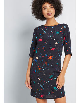 Planetary Penchant Cosmic Shift Dress by Sugarhill Boutique