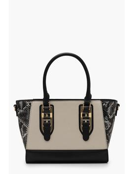 Faux Python Wings Tote Bag by Boohoo
