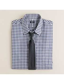 Point Collar Dress Shirt In Medium Gingham by J.Crew