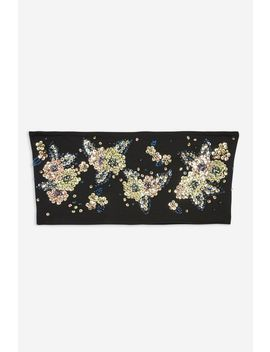 Embellished Bandeau Top by Topshop