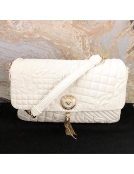 Nappa Barocco Quilted Vanitas Shoulder Bag by Versace