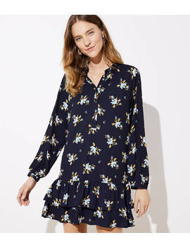 Bouquet Double Flounce Dress by Loft