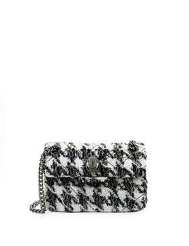 Tweed Kingston Chain Crossbody Bag by Kurt Geiger London
