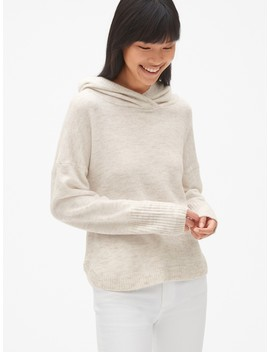 Brushed Hooded Pullover Sweater by Gap