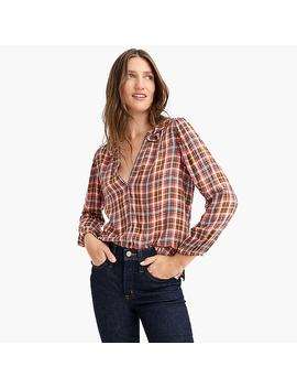 Point Sur Drapey Flannel Popover by J.Crew