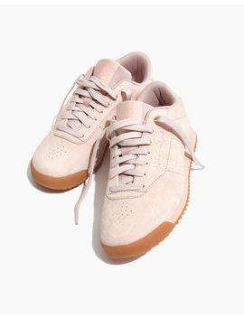 Reebok® Princess Ripple Sneakers In Pink Suede by Madewell