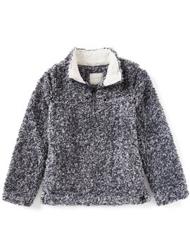 Big Girls 7 16 Faux Fur Sherpa Long Sleeve Cozy Pullover by Copper Key